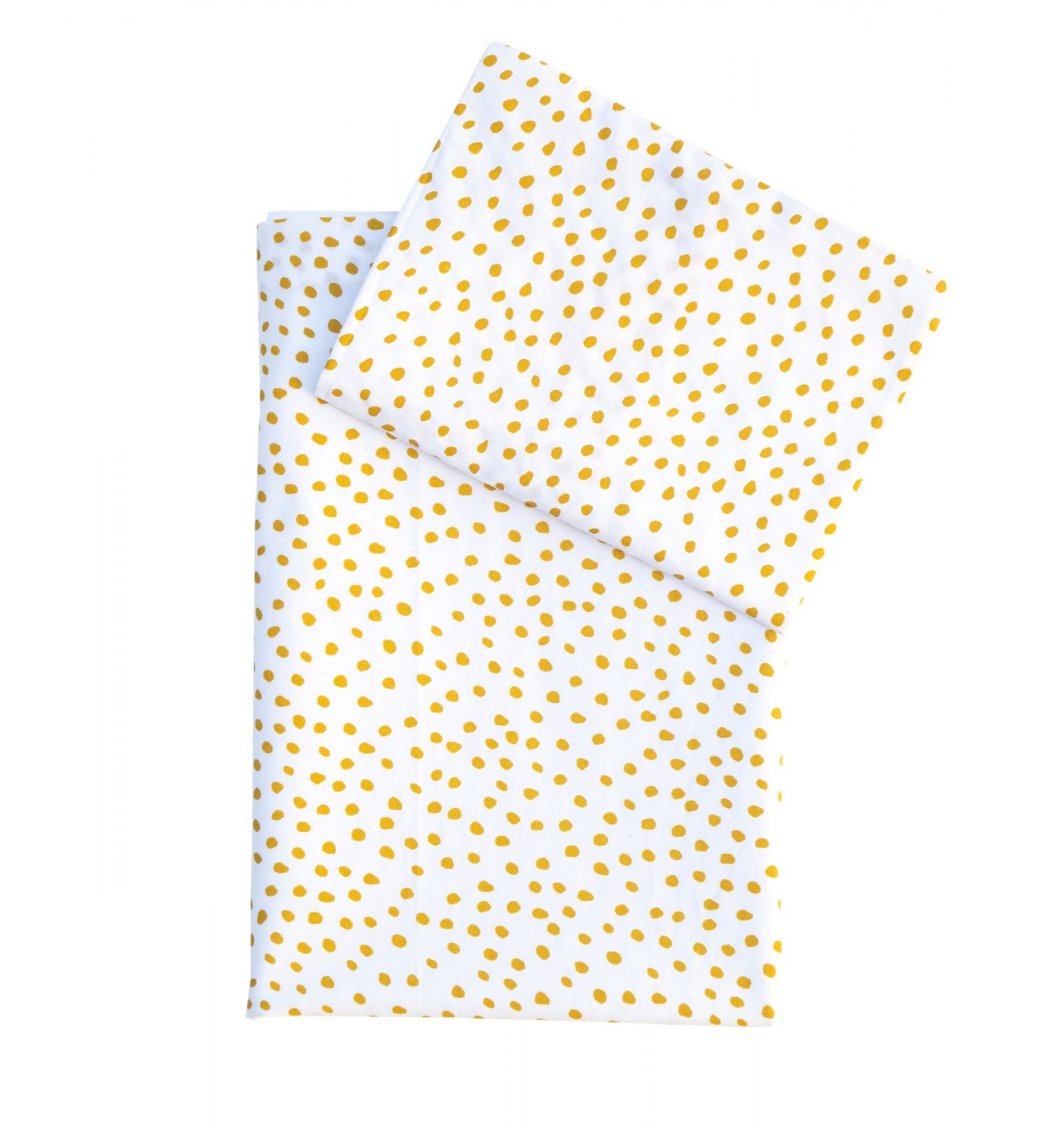 Small Smudge Mustard - Co-Sleeper fitted sheet