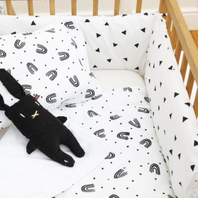 Black Triangle – Cot Bumper