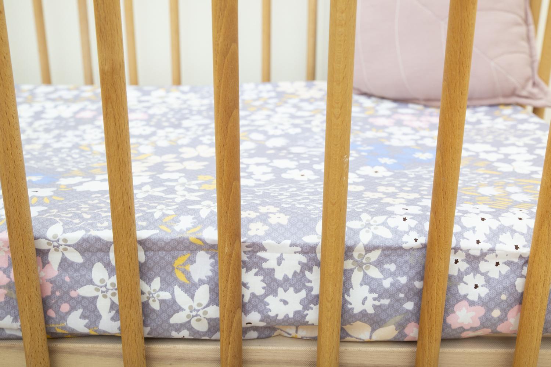 Purple Floral Large Cot Sheet