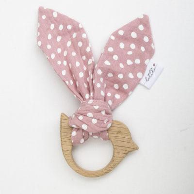 Pink Muslin Teether