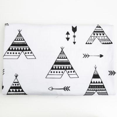 Stretch Cotton Blanket – Black Teepee