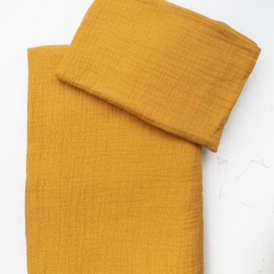 Mustard Muslin Cot Duvet Cover