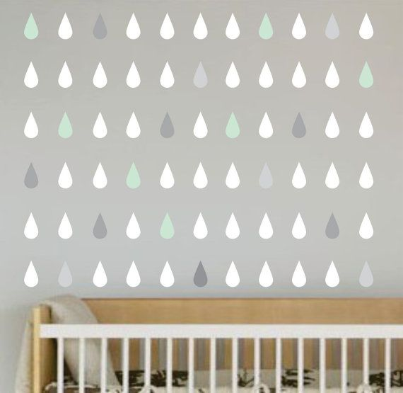 Little Love Wall Decals - Raindrops