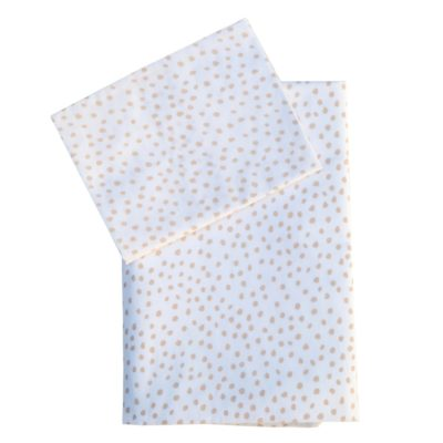 Small Smudge Blush Cot Sheet