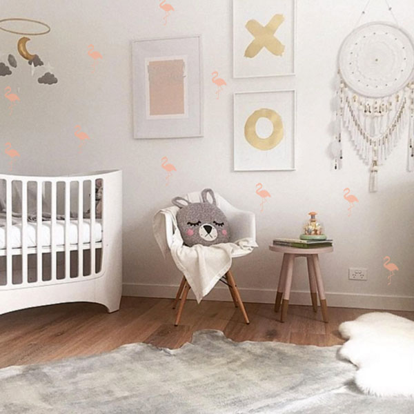 Little Love Wall Decals - Flamingos