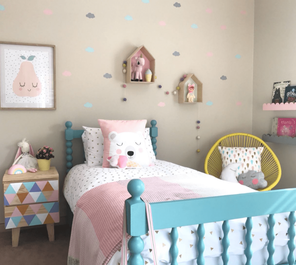 LITTLE LOVE WALL DECALS - MULTI COLOURED CLOUDS