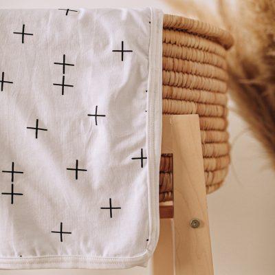 Stretch Cotton Blanket – Skinny Swiss Cross