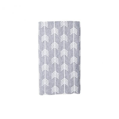 Stretch Cotton Blanket – Grey Arrow