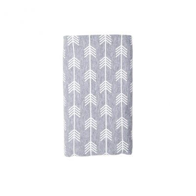 Stretch Cotton Blanket – Grey Arrow