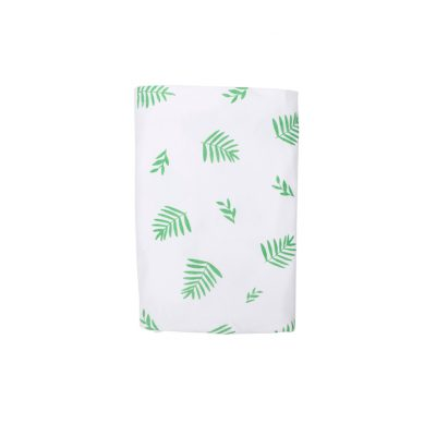 Stretch Cotton Blanket – Green Leaf
