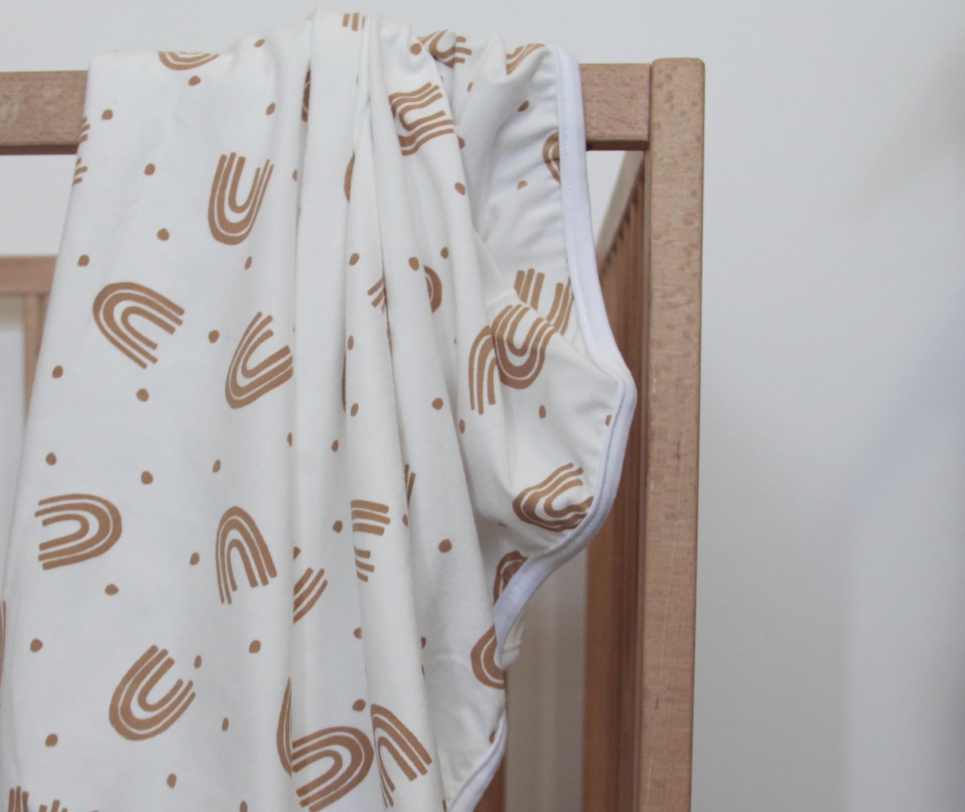 Stretch Cotton Blanket - Caramel Rainbow