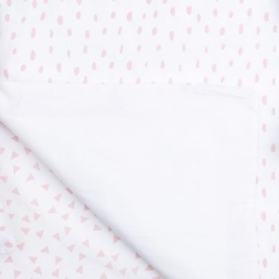 Blush Smudge Dot Cot Sheet