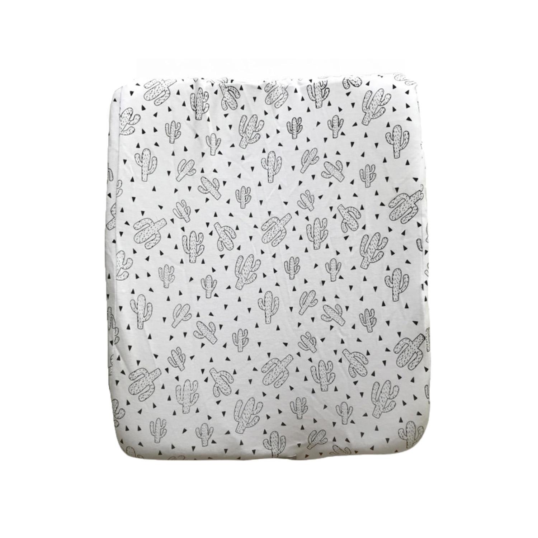 Change Mat Cover - Black on White Cacti