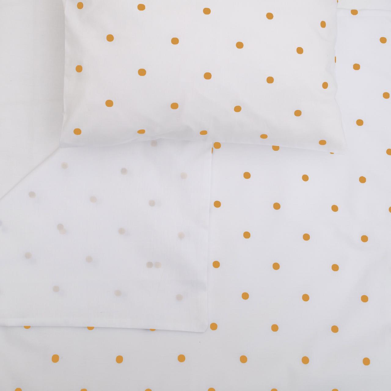 Round Dot Mustard - Co-Sleeper fitted sheet
