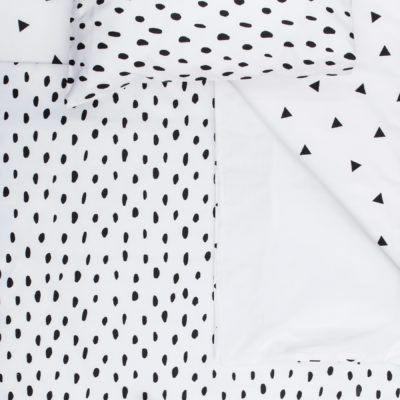 Black Smudge Dot Cot Sheet