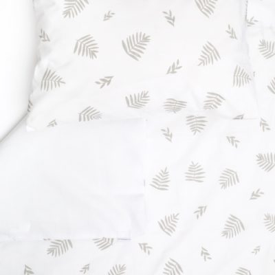 Grey Leaf Cot Duvet