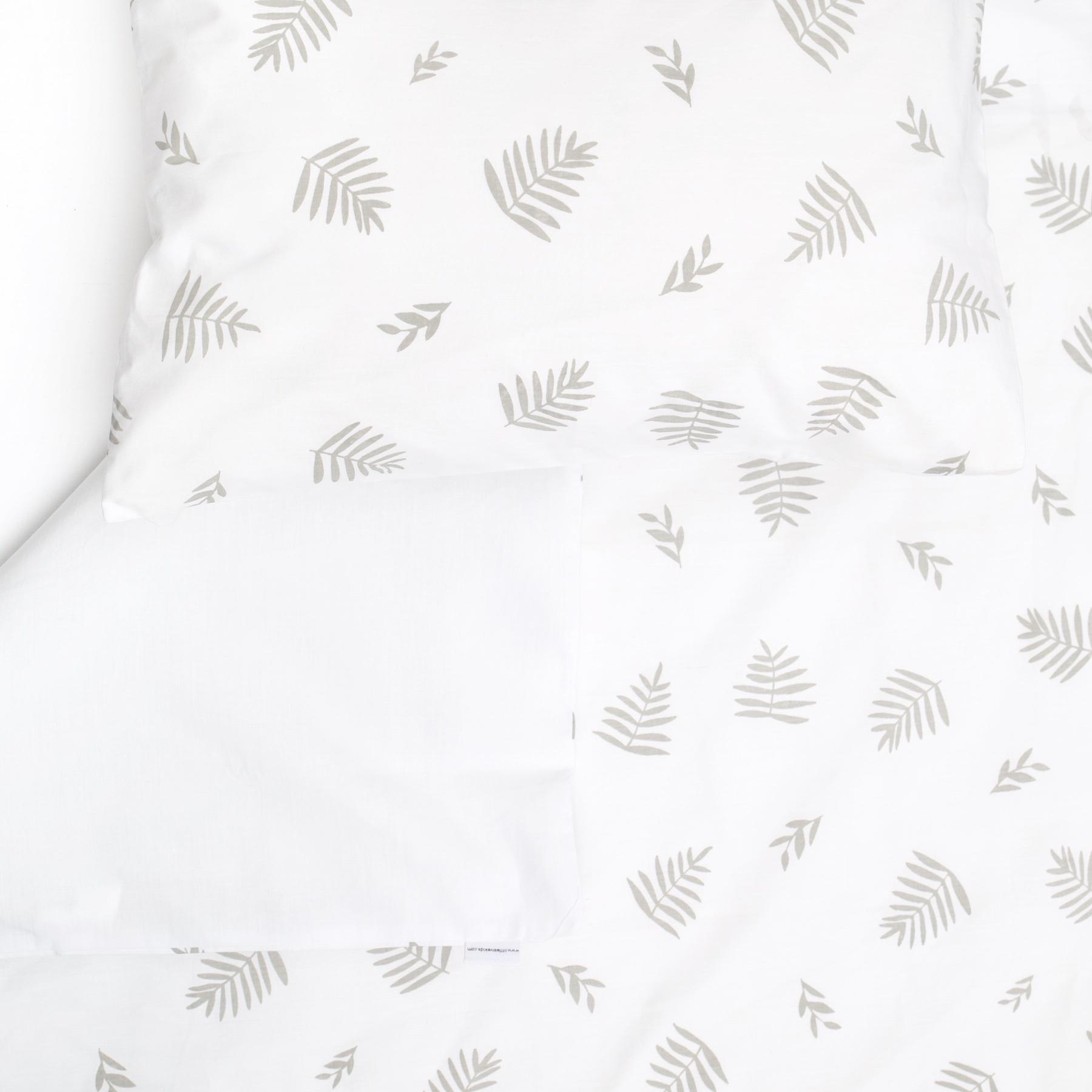 Grey Leaf Large Cot Sheet