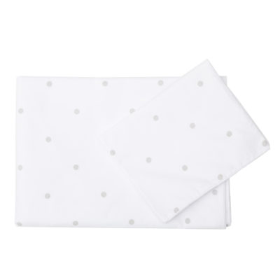 Grey Dot Cot Sheet