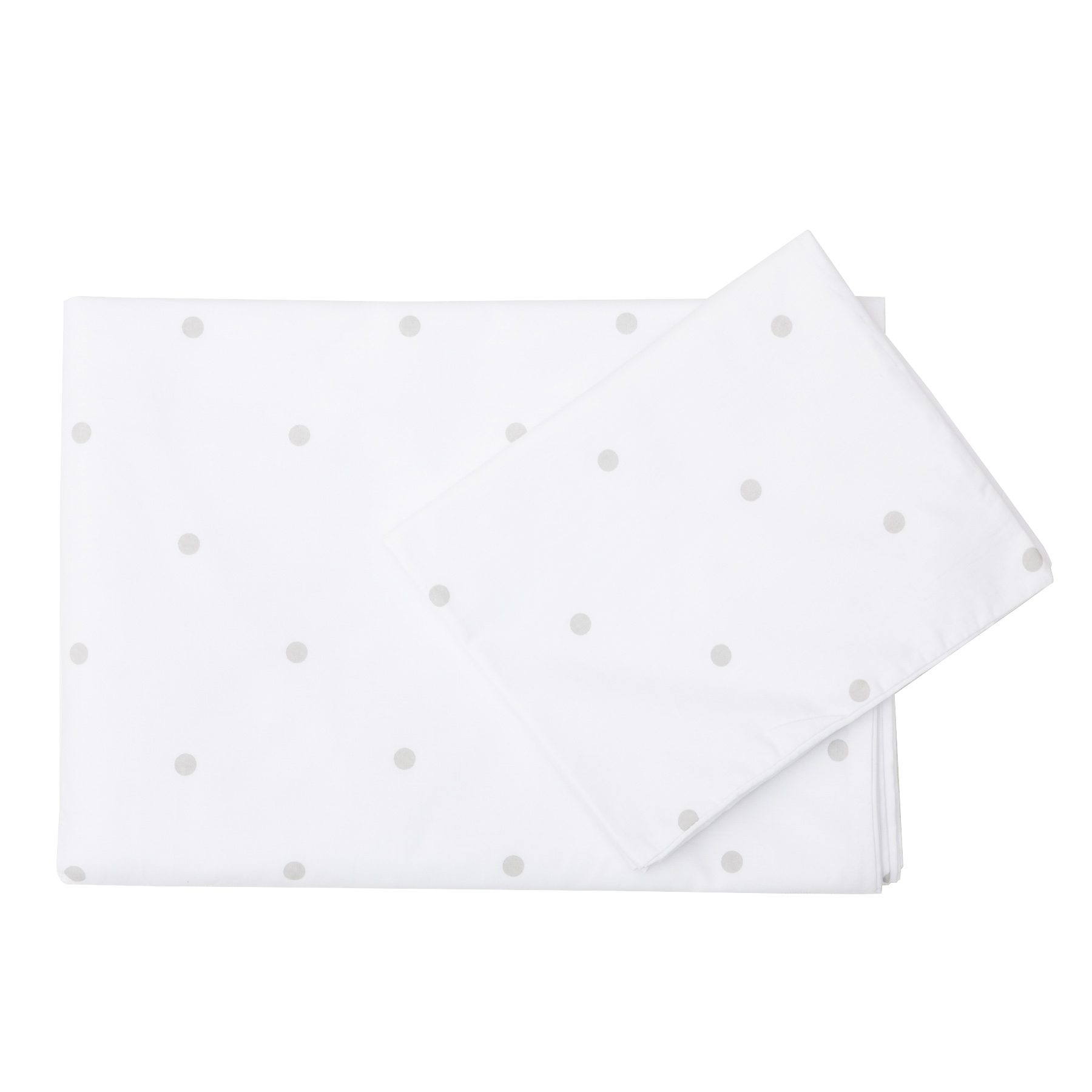 Round Dot Grey - Co-Sleeper fitted sheet
