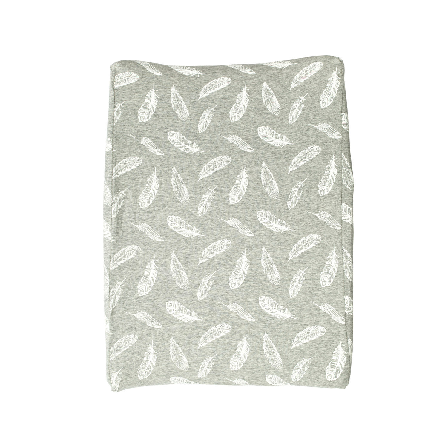 Change Mat Cover - Grey & White Feathers