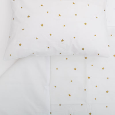 Cot Pillowcase – Gold Star