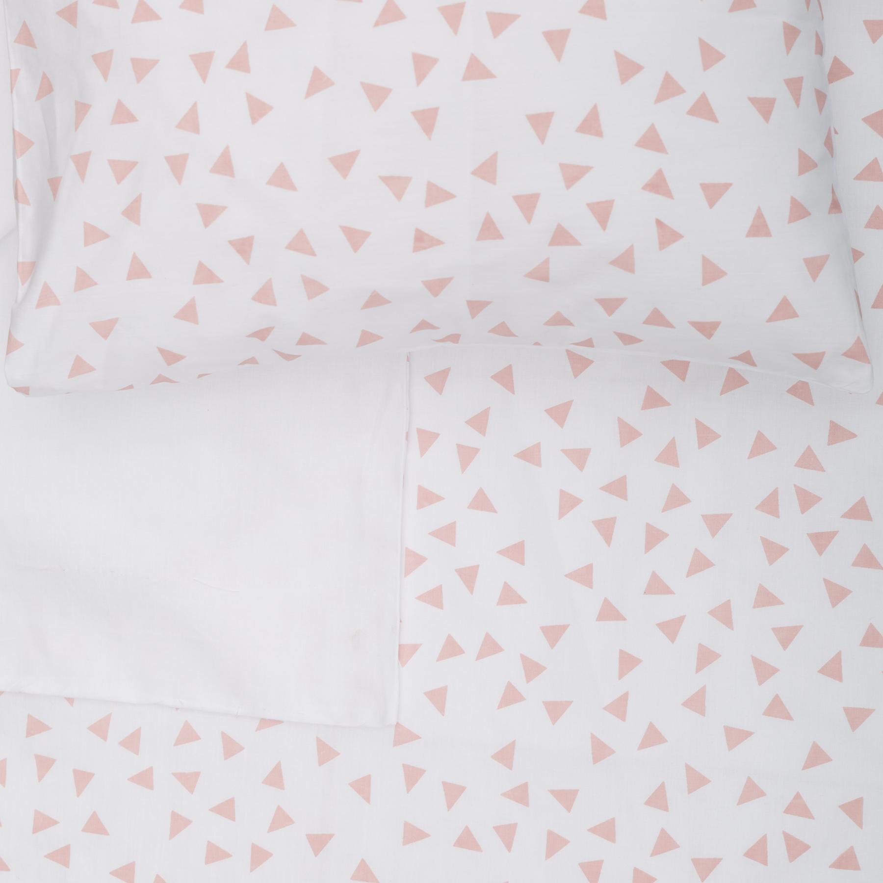 Blush Triangle - Cot Duvet Cover