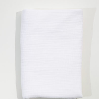 Muslin Cot Duvet – White