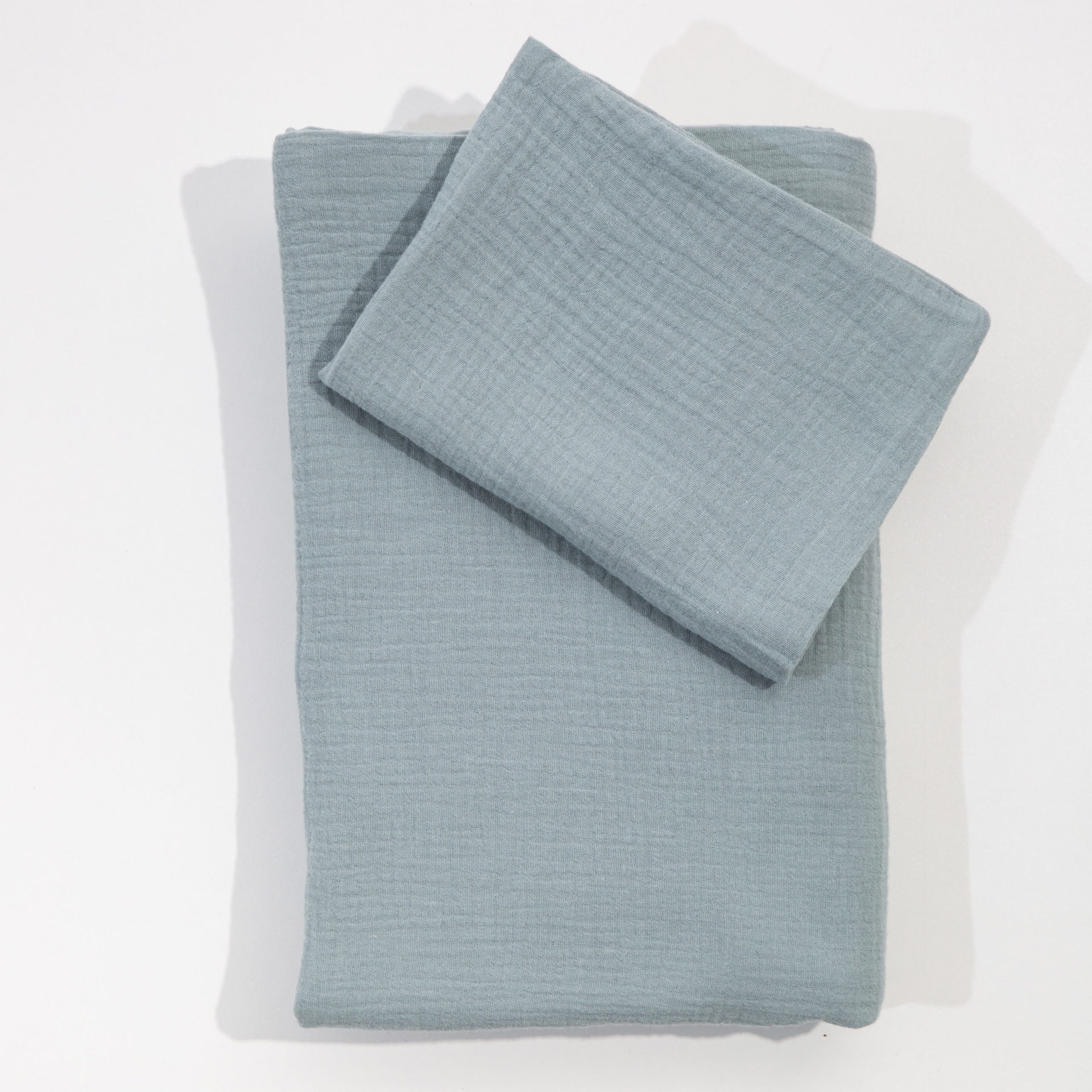 Single Bed Muslin Duvet - Sage