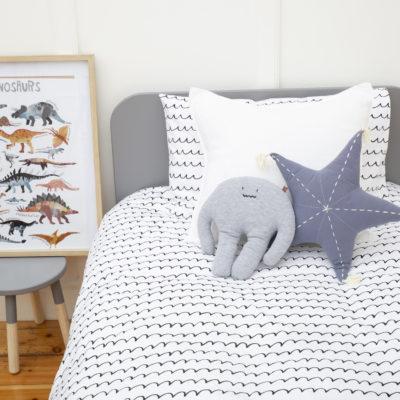 Single Bed Duvet – Black Wave