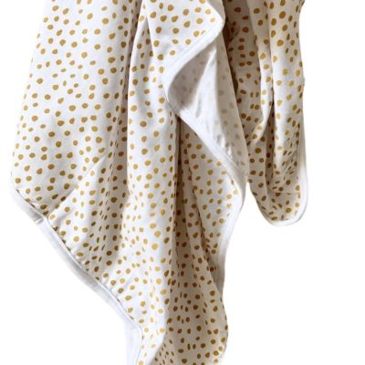 Stretchy Swaddle Blanket – Small Smudge Mustard