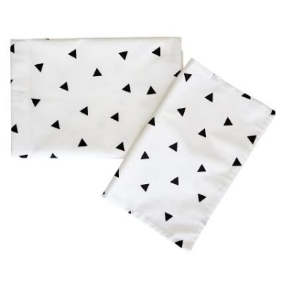 Large Camp Cot Fitted Sheet – Black Triangle