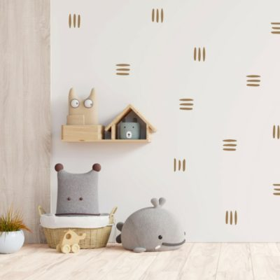 Wonky Stripes Wall Decals – Caramel