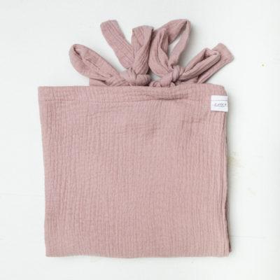 Muslin Change Mat Cover – Dusty Pink