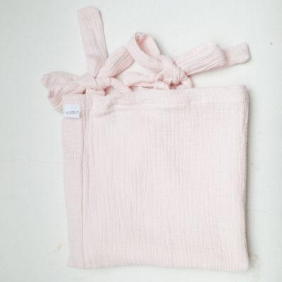Muslin Change Mat Cover – Blush