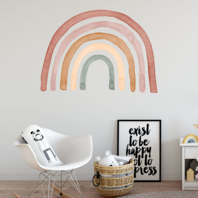 Large Watercolour Rainbow Wall Decal