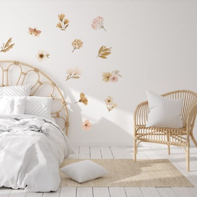 Pink Floral Wall Decals