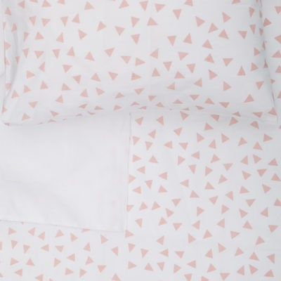 Blush Triangle – Standard Cot Fitted Sheet
