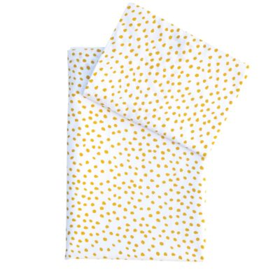 Small Smudge Dot Mustard – Large Cot Fitted Sheet