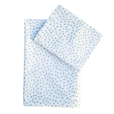 Small Smudge Dot Duck Egg – Large Cot Fitted Sheet