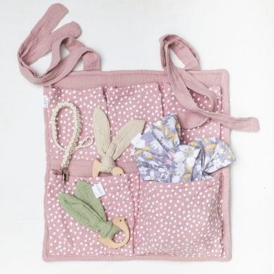 Pocket Organizer – Dusty Pink Muslin