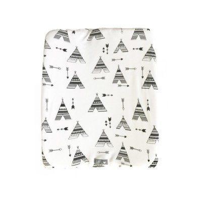 Change Mat Cover –  Black Teepee