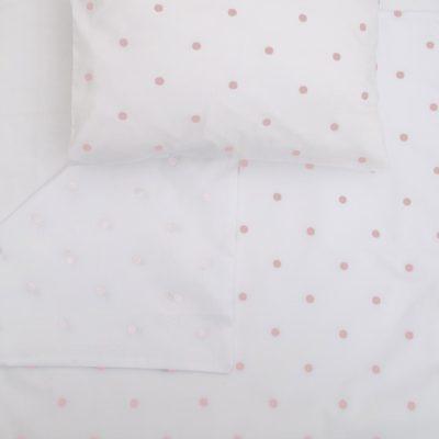 Blush Round Dot – Single Bed Duvet Cover