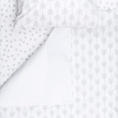 Grey Arrow – Standard Cot Fitted Sheet