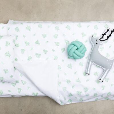 Single Bed Duvet Cover – Green Leaf
